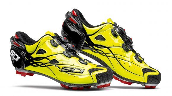 Pantofi ciclism SIDI Tiger Carbon SRS Mtb galben/negru 43