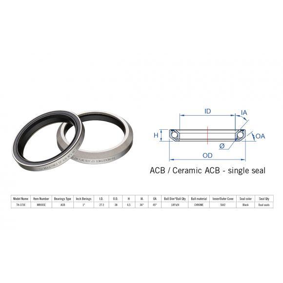 "Rulment cuvete FSA TH-073 ACB 1.5"" 36x45 singleS MR127"