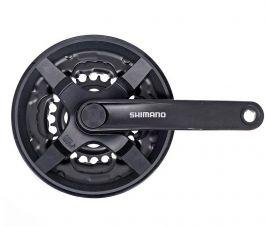 Angrenaj SHIMANO Tourney FC-TY301 - 3x6/7/8 viteze, 175mm, 42-34-24T - cu aparatoare