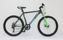 "Bicicleta ULTRA Agressor 26"" negru/verde neon/albastru 520mm"