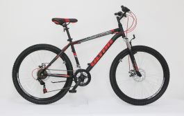 "Bicicleta ULTRA Razor 26"" negru/rosu neon/portocaliu neon 440mm"