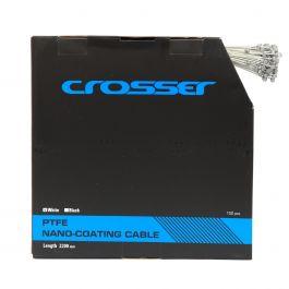 Cablu frana Nano CROSSER 7*7*1.5mm 2200mm - Cutie 100buc - Alb