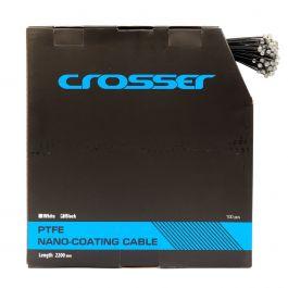 Cablu frana Nano CROSSER 7*7*1.5mm 2200mm - Cutie 100buc - Negru