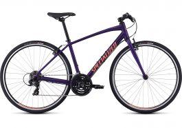 Bicicleta SPECIALIZED Sirrus V-Brake - Women's Spec - Satin Plum Purple/Acid Lava L