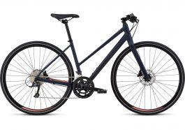 Bicicleta SPECIALIZED Sirrus Sport Step-Through - Women's Spec - Cast Blue/Acid Lava M