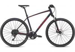 Bicicleta SPECIALIZED Crosstrail Elite - Satin Cast Blue/Rocket Red/Rocket Red Reflective L