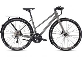 Bicicleta SPECIALIZED Women's Sirrus Elite EQ Step-Through - Black Top LTD Satin Sterling Grey/Black M