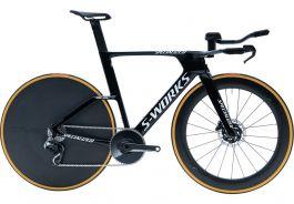 Bicicleta SPECIALIZEDS-Works Shiv TT Disc - Gloss Tarmac Black/White M