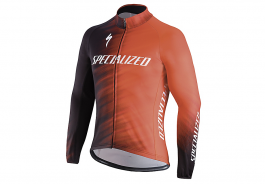 Jacheta ciclism SPECIALIZED Element SL Team Expert Jersey LS Rocket Red/Black Faze L