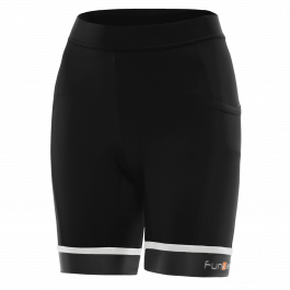 Pantaloni scurti alergare FUNKIER Marsala - Negru/Alb L