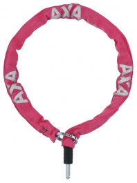 Incuietoare lant AXA Plug-in RLC 100cm/5,5mm roz