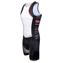 Costum triathlon FUNKIER Licata Men Pro - Alb/Negru 2XL