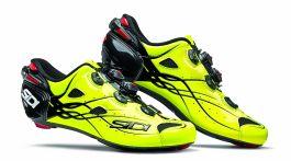 Pantofi ciclism SIDI Shot Carbon Road galben fluo 43
