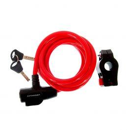 Incuietoare cablu CROSSER CL-823 10x1800mm - Portocaliu