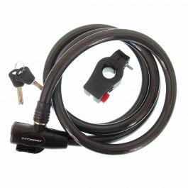 Incuietoare cablu CROSSER CL-823 15x1800mm - Negru