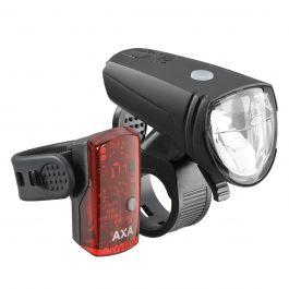 Far + stop AXA Greenline 25 Lux - 1 LED USB