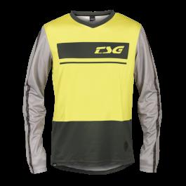 Tricou TSG Skillz L/S - Black Limeyellow XL