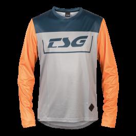 Tricou TSG Breeze L/S - Blue Orange XL