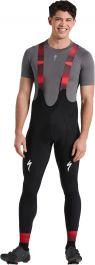 Pantaloni termici cu bretele SPECIALIZED Men's Team SL Expert - Black/Red XL