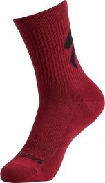 Sosete SPECIALIZED Cotton Tall Logo - Maroon S