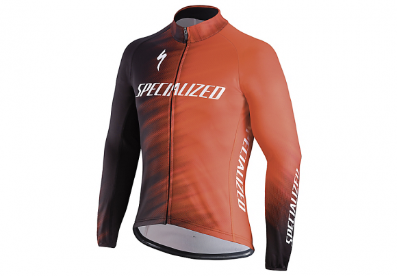 Jacheta ciclism SPECIALIZED Therminal SL Team Expert Jersey LS Rocket Red/Black Faze XL