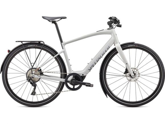 Bicicleta SPECIALIZED Turbo Vado SL 4.0 EQ - Dove Gray/Acid Lava/Cast Black Reflective L